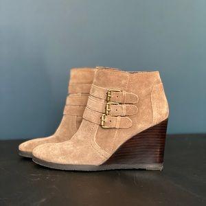 Franco Sarto Suede Wedge Boots